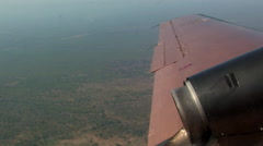 Aerial of ZAMBIAN Countryside Stock Footage