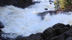 Roaring Water in Ragged Falls Stock Footage
