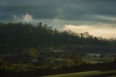 Rural traditional farms Transylvania 6K Stock Footage