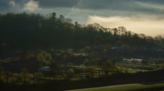 Rural traditional farms Transylvania 4K Stock Footage