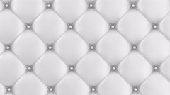 4K Looping Animation of White Leather Upholstery Background. 4K Stock Footage