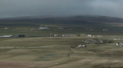 Rural Valley outside Kirkwall, Orkney Stock Footage