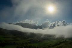 Coltesti valley fog Transylvania 8mm 6K native Stock Footage