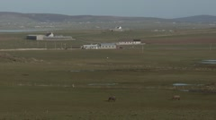 Mainland Orkney Island countryside scene. - stock footage