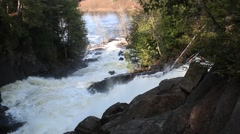 Ragged Falls Oxtongue River Provincial Park Stock Footage