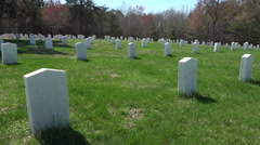 Spotsylvania Confederate Cemetery unknown soldiers 4K 024 Stock Footage