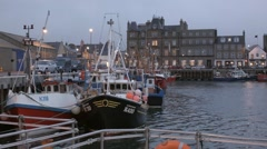 Kirkwall Harbour, Orkney Stock Footage