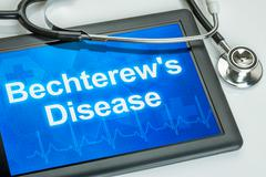 Tablet with the diagnosis Bechterews Disease on the display - stock photo