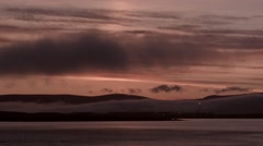 Sunset over Scapa Flow Stock Footage
