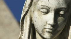 Detail of statue in front of the Basilica of our Lady Immaculata in Guelph Stock Footage
