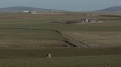 Mainland Orkney Island countryside scene. Stock Footage