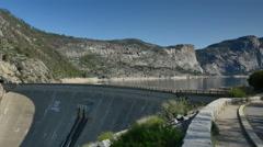 4K Yosemite Hetch Hetchy 01 Dam Wapama Falls Stock Footage
