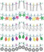 Nautical holiday bunting  - stock illustration