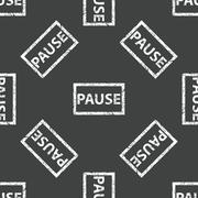 Rubber stamp PAUSE pattern - stock illustration