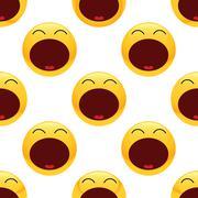 Tired emoticon pattern - stock illustration