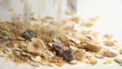 Cereals muesli - stock footage