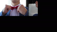 accessories of the groom multiscreen - stock footage