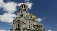 Time lapse from The St. Alexander Nevsky Cathedral Stock Footage