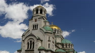 Stock Video Footage of Time lapse from The St. Alexander Nevsky Cathedral
