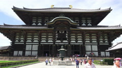 Todaiji Temple In Nara Japan Stock Footage