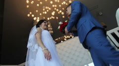 Sharing great moments with bride Stock Footage