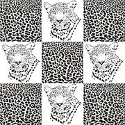 Stock Illustration of Leopard patterns for Textiles