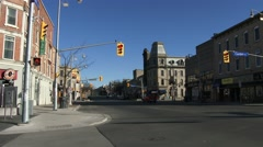 Establishing shot of downtown Guelph, Ontario Stock Footage