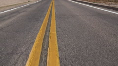4K Driving Road Double Yellow Line Stock Footage
