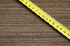 Veneer and measuring tape Stock Photos