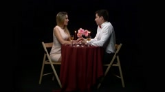 Love and affection between a young couple - stock footage