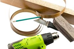 furniture edges and TOOLS - stock photo
