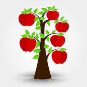 Apple tree - stock illustration