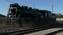 Old locomotive at Guelph train station Stock Footage