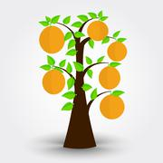 Orange tree - stock illustration