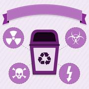 Radioactive waste disposal Stock Illustration