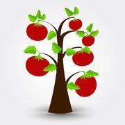 Tomato tree Stock Illustration