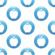 Apple sign pattern - stock illustration