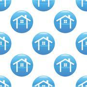 House contour sign pattern Stock Illustration