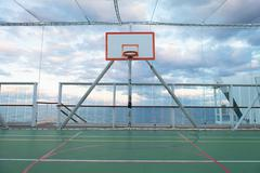 Netted Basketball Court Stock Photos