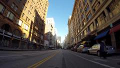 7th Street Los Angeles - stock footage
