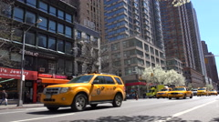 Road traffic at the 6th Avenue of Manhattan. Stock Footage