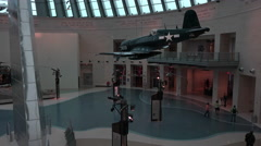 Quantico VA National Museum of the Marine Corp F4U Corsair aircraft 4K 079 Stock Footage