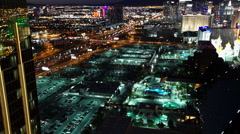 Beautiful view on Las Vegas Luxor Hotel in the evening - stock footage