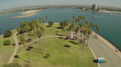 Aerial Shot of Mission Bay Stock Footage