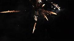 Firework or firecracker Stock Footage