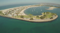 Aerial Shot of Fly By Mission Point in Mission Bay  Stock Footage