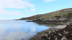 Clifden Beach, Connemara, day, stable - Ireland Stock Footage