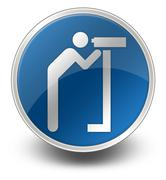 Stock Illustration of Icon, Button, Pictogram Viewing Area