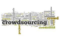 Word Cloud Crowdsourcing - stock illustration