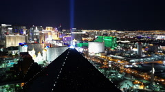 The Luxor hotel from above great evening shot - stock footage